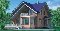 дом с крышей мансардой