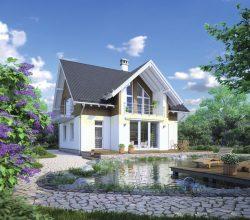 Красивый загородный дом