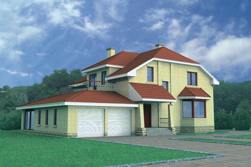 Дом с 2 гаражами