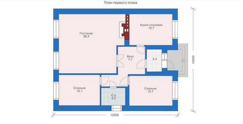 Проекты одноэтажных домов до 100