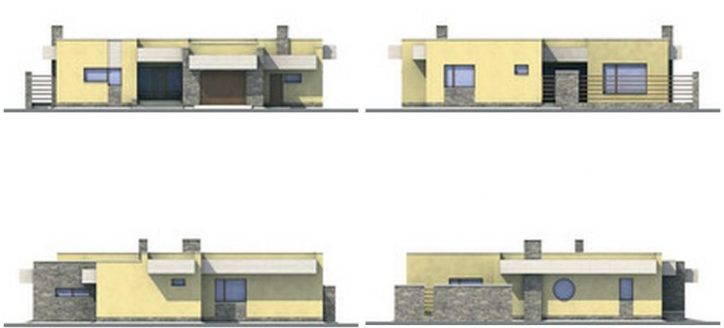 Дом одноэтажный с гаражом