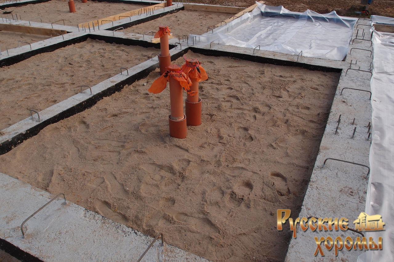 Фундамент и коммуникации - канализация и водопровод 2