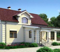 Одноэтажный дом с мансардой