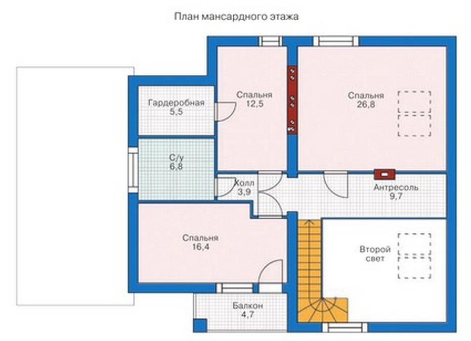 Частный дом с мансардой